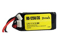 D-Power HD-1250 3S Lipo (11,1V) 30C mit T-Stecker