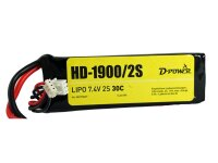 D-Power HD-1900 2S Lipo (7,4V) 30C mit T-Stecker