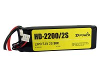 D-Power HD-2200 2S Lipo (7,4V) 30C mit T-Stecker