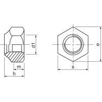 M6 Sicherungsmutter/Stopmutter niedrige Form mit...
