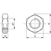 M3 Sechskantmutter verzinkt DIN 934/ 8 (20 Stück)