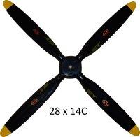 Biela 28x14 4 Blatt Propeller Semiscale Corsair passend...