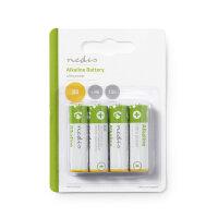 Nedis Alkali Batterie AA 1.5 V 4-Blister
