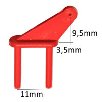 2mm Kunststoff Ruderhorn  - 11mm (4 Stück)