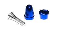 Mitnehmer 3,17mm/M5 mit blauer Spinnermutter