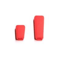 Sender Schalterkappen - rot (1x kurz, 1x lang)