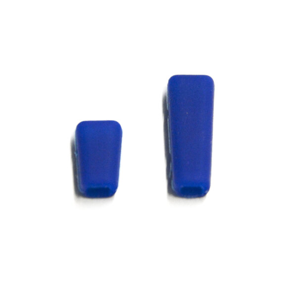 Sender Schalterkappen - blau (1x kurz, 1x lang)