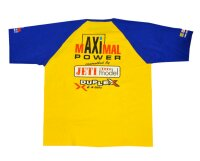 gelb/blaues T-Shirt im mAXImal Power Design (XXL)