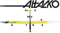 CHOCOFLY Attacko 4.25 CFK ARF gelb/schwarz (4250mm) inkl....
