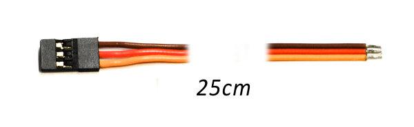 Servoanschlusskabel 25cm mit Stecker (System Graupner)  flach