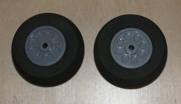 Räder für Fahrwerke (2Stk) 45x19mm
