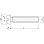 M3x10 PA 6.6 Polyamid natur Zylinderschraube mit Schlitz (~DIN 84A) (10 Stück)
