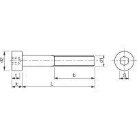 M3x4 Zylinderschraube mit Innensechskant verzinkt ISO4762 8.8 (DIN 912) (25 Stück)
