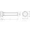 M4x30 Sechskantschraube ohne Schaft verzinkt ISO4017 8.8 (DIN 933) (10 Stück)