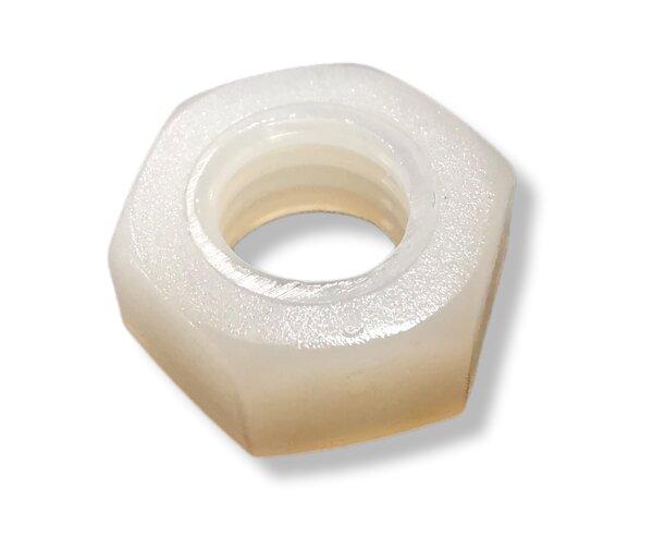 M8 Sechskantmutter Polyamid PA 6.6 natur DIN34814 (~ISO4032/~DIN934) (10 Stück)