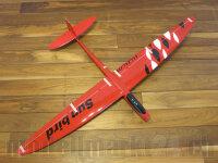 RCRCM E-Sunbird Spw.1,52m GFK Rot/Weiss&Schwarz inkl....