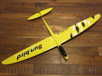 RCRCM E-Sunbird Spw.1,52m GFK Gelb/Weiss&Schwarz...