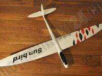 RCRCM E-Sunbird Spw.1,52m GFK Weiss/Rot&Schwarz inkl....