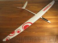 RCRCM E-Strega Spw. 2,9m GFK+ Weiss/Rot mit Schutztasche