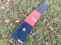 Tragfläche Links Typhoon 2m CFK Rot/Schwarz von RCRCM