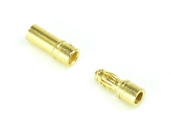 Goldkontakt kurz 3,5mm Paar
