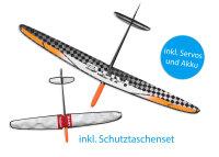 Kite CFK DLG/F3K Strong Weiss/Orange 1500mm inkl....