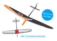 Kite CFK DLG/F3K Strong Orange 1500mm inkl. Schutztaschen