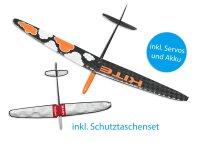 Kite CFK DLG/F3K Strong Orange Cloud 1500mm inkl....