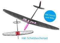 Kite PNP CFK DLG/F3K Light Pink 1500mm inkl. Schutztaschen