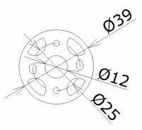 GKF Motor Mount Universal 39mm Durchmesser