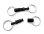 Kreuzgurt Schnellverschluss (Paar) - schwarz