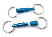 Kreuzgurt Schnellverschluss (Paar) - blau