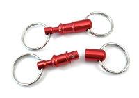 Kreuzgurt Schnellverschluss (Paar) - rot