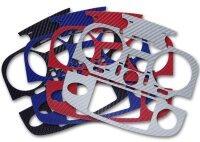 T12K 3D-Folie Carbonlook 4er Set (4 Farben)