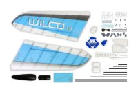 Wilco 1.3 ARF blau - Combo inklusive Antrieb + Servos