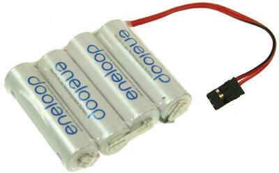 4-zelliger Eneloopakku mit Stecker Syst. Grp, Reihe, 2000mAh, 4,8V
