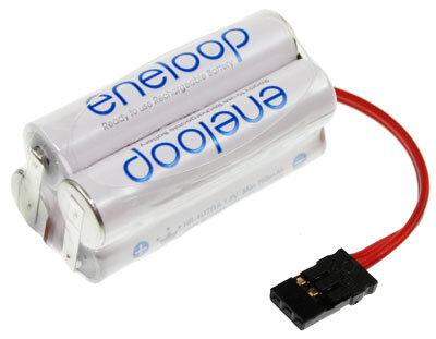 4-zelliger Eneloopakku micro mit Stecker Syst. Grp, Würfelform, 800mAh, 4,8V