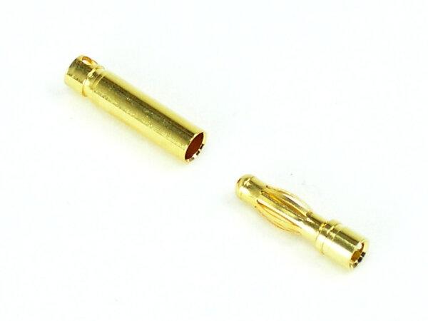 Goldkontaktsteckerpaar 4mm