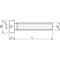 M2,5x8 Zylinderschraube mit Schlitz verzinkt ~ISO1207 4.8...