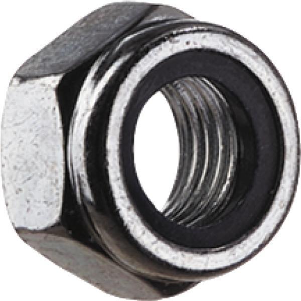 (20 Stück) M3 Sicherungsmutter/Stopmutter niedrige Form mit Polyamideinlage DIN 985/ 6 verzinkt