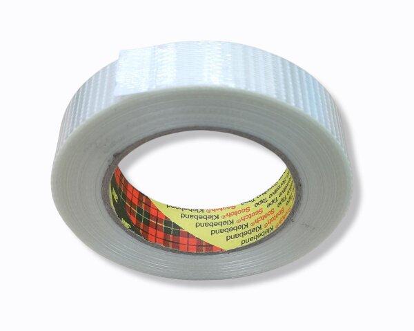 Filamentklebeband, Kreuzgewebe 50m, 25mm breit
