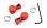 Alu Drehgeberset Rot für seitliche Potis passend zur DS12