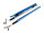 HEPF Elektrische Störklappen 300mm (Paar) 7,4V blau eloxiert