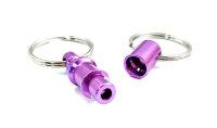 Kreuzgurt Schnellverschluss (Paar) - purple