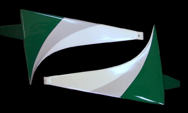 Fahrwerksbügel für Wind S Pro F3A in grün/silber/weiß