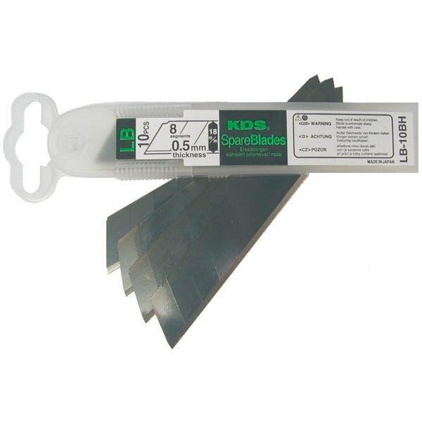 10 Ersatzklingen für Cuttermesser mit 25mm Klingenbreite