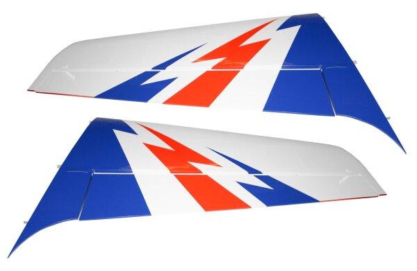 Tragflächenpaar für Sebart 2.2m in weiß/blau