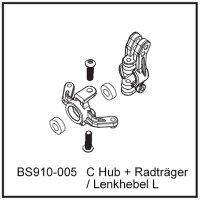 C Hub + Radträger / Lenkhebel L - BEAST BX / TX