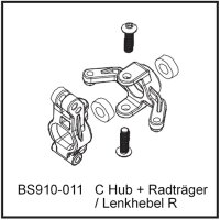 C Hub + Radträger / Lenkhebel R - BEAST BX / TX