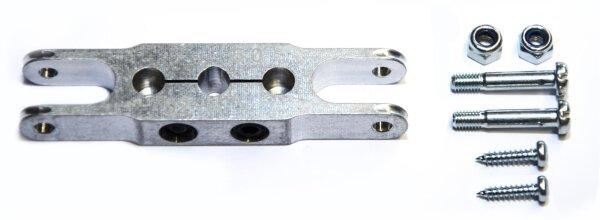 Klemm-Mittelteil 62mm, Bohrung 3,17mm zu HE Spinner